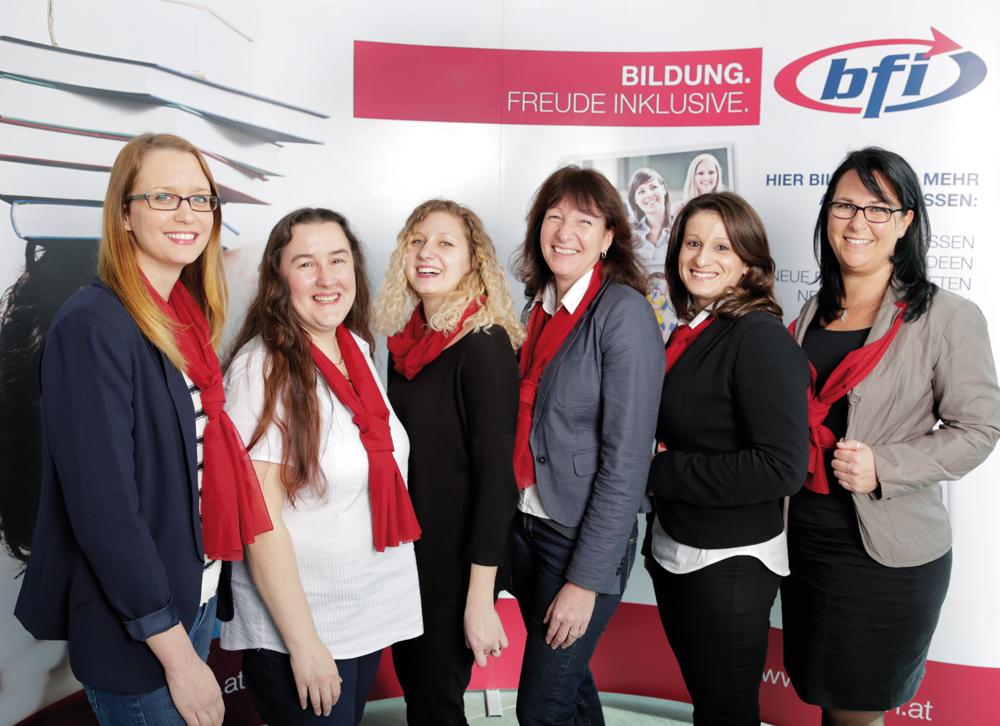 Die Damen des BFI Wien Servicecenters